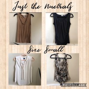Ladies size small just the neutrals bundle 4 tops